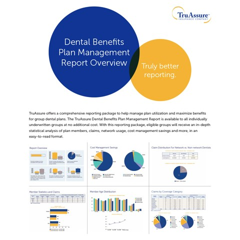 Dental Benefits Plan Management Report Overview